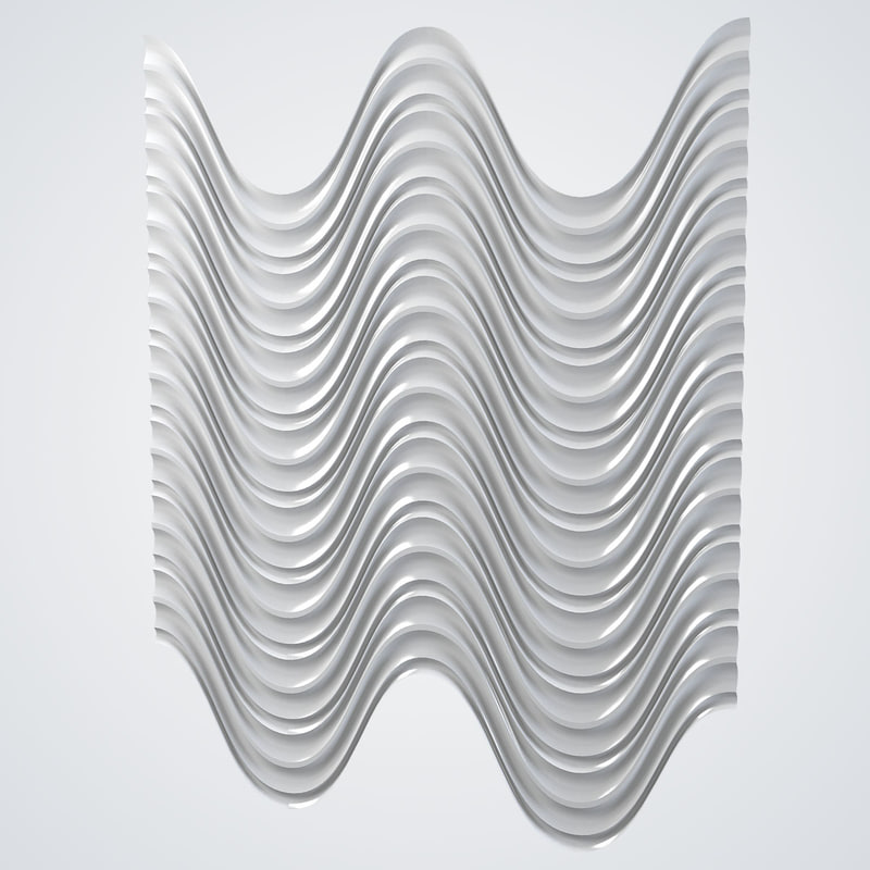 3d engraved wave wall