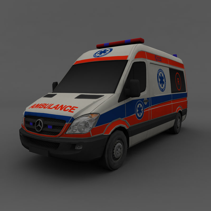 3ds max mercedes benz ambulance car