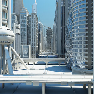 definition commercial skyscrapers 3d model