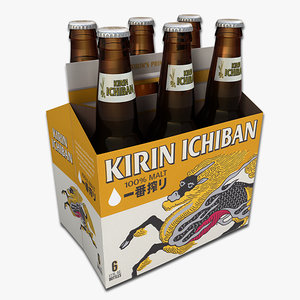 pack kirin beer 3d model