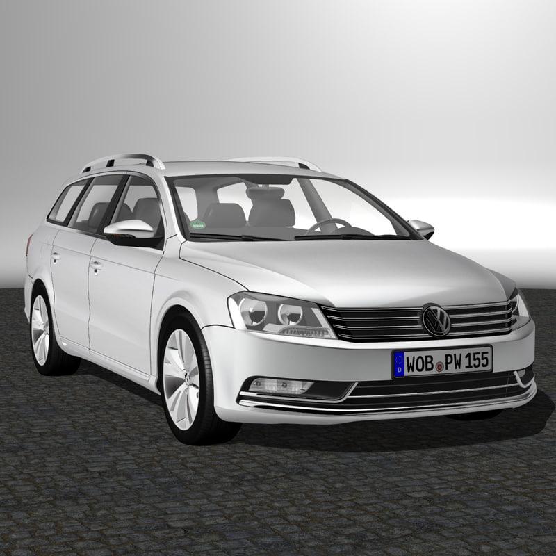 3d model passat variant 2012