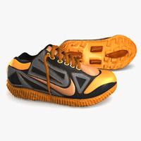 3d model sneakers orange