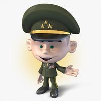 3dsmax cartoon soldier