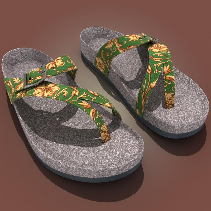 teva naot sandal 3d model
