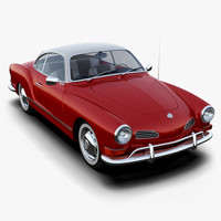 volkswagen karmann ghia 3d model