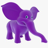 cartoon elephant 3d 3ds