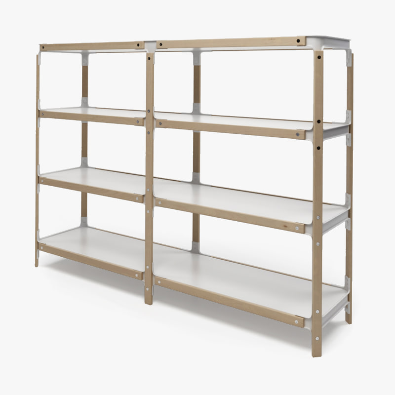 photorealistic steelwood shelving magis max