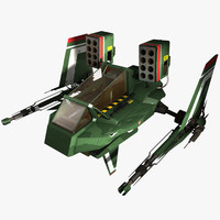 3d 3ds spaceship fighter
