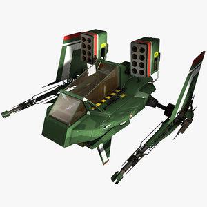 3d 3ds spaceship fighter