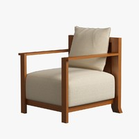 Armchair Wooden 004