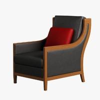 Armchair Wooden 005