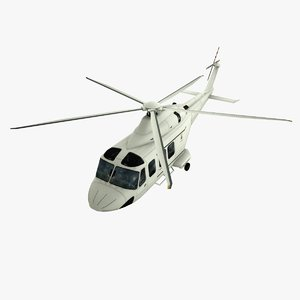3d agustawestland aw-139 low-poly model