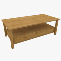 cottage coffee table 3d model