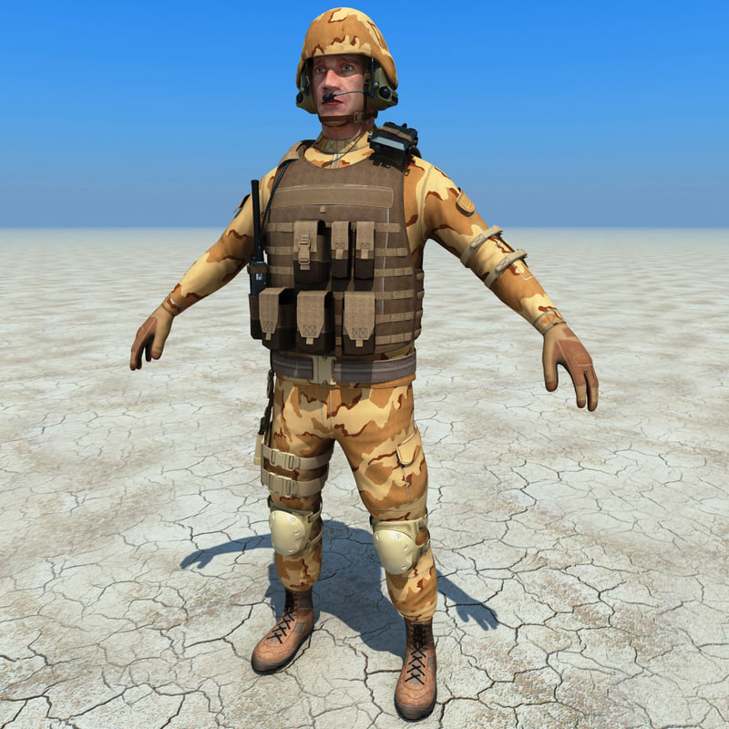 3d sas soldier 2 rigged