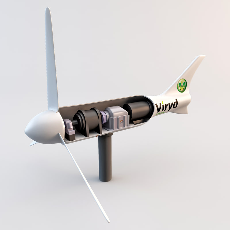 viryd wind turbine 3d model