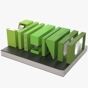 3d photoreal lexon buro office supplies model