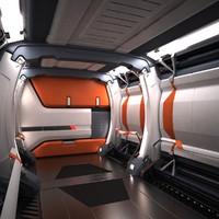 sci fi futuristic spaceship 3d model