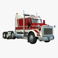 3d t800 truck heavy haul model