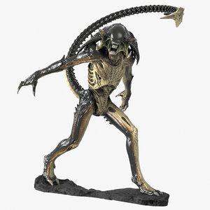 3d predalien maquette sculpture model