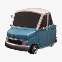 3d model antique cartoon car
