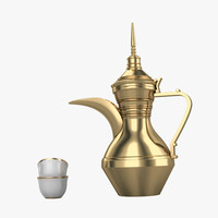 dallah coffee 3d model