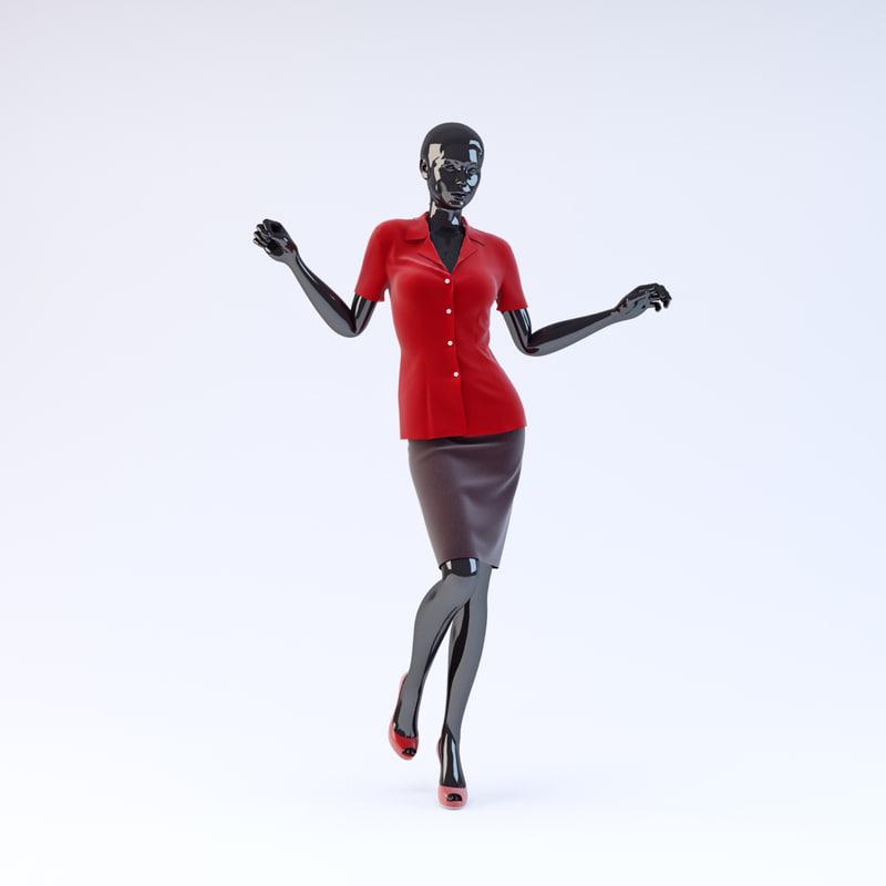 showroom mannequin 15 3d 3ds