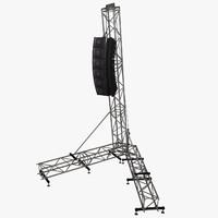 3d speaker array model