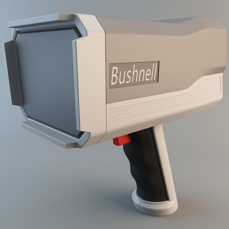 3d model bushnell speedster iii radar