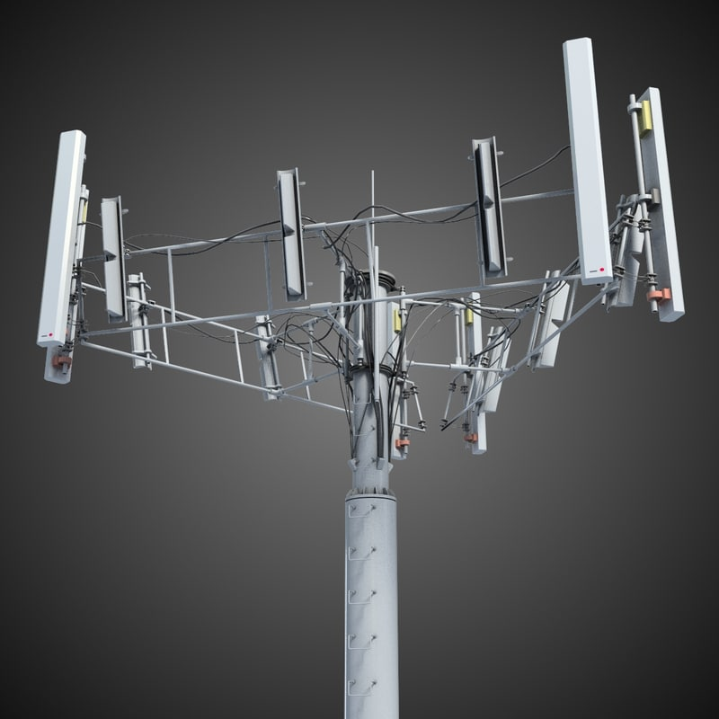 3d communication tower antena 2