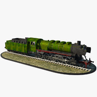 steam locomotive kriegslok 3d model