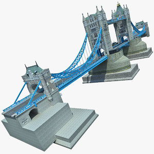 london tower bridge 2 3d model