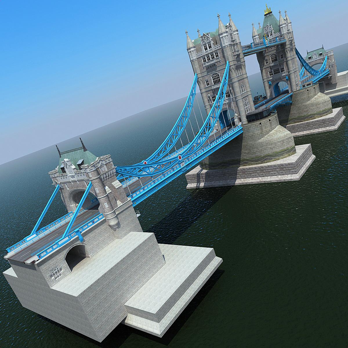 london tower bridge 2 3d model