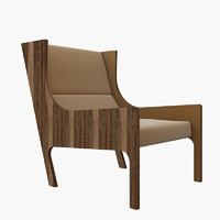 3d model of autoban armchair