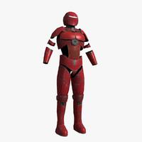 3d armor sci fi model