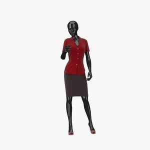 3d showroom mannequin 14 model