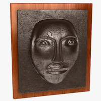 face wall plaque 3d obj