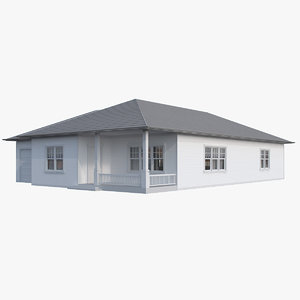 3d bungalow v-ray