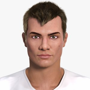 european man character darrel 3d model