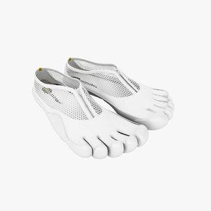 vibram fingers shoes 3d max