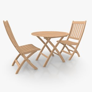 3d foldable patio furniture set