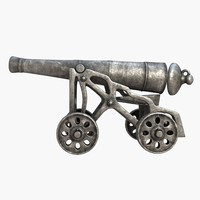 medieval cannon obj