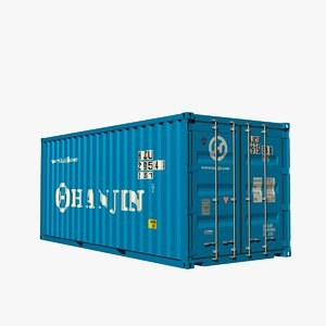 20ft box container 3d model