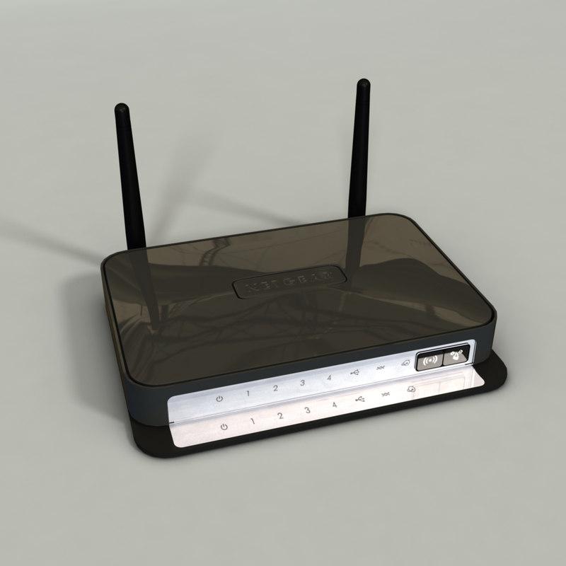 netgear wireless router 3d 3ds