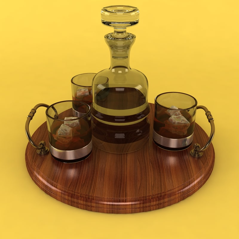 3dsmax whisky serving tray