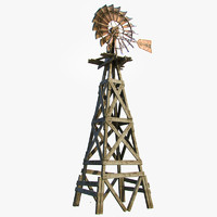 old farm windmill 3d max