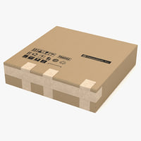 3ds max cardboard box 3