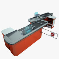 counter checkout 3d model