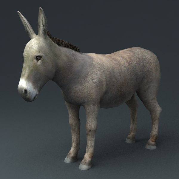 3ds max rigged donkey