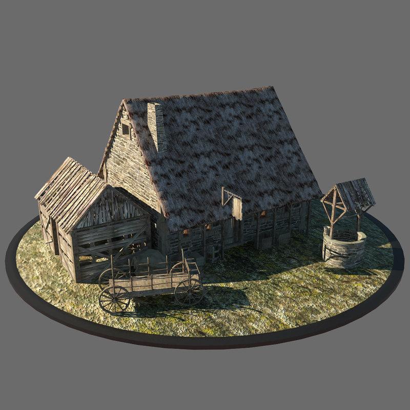 medieval inn 3d max