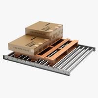 Pallet and Skid Floor Conveyor